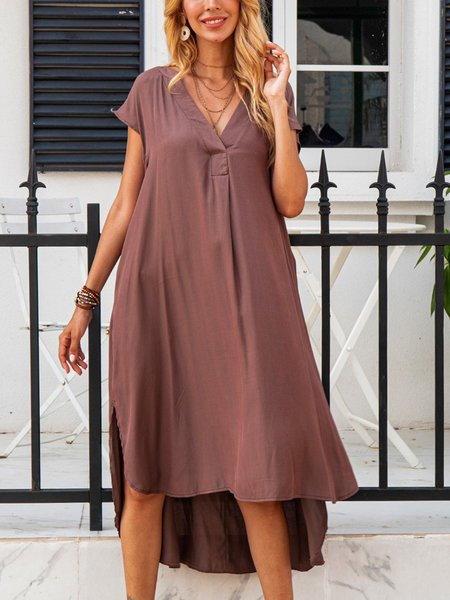 Coffee Holiday Cotton-Blend Dresses