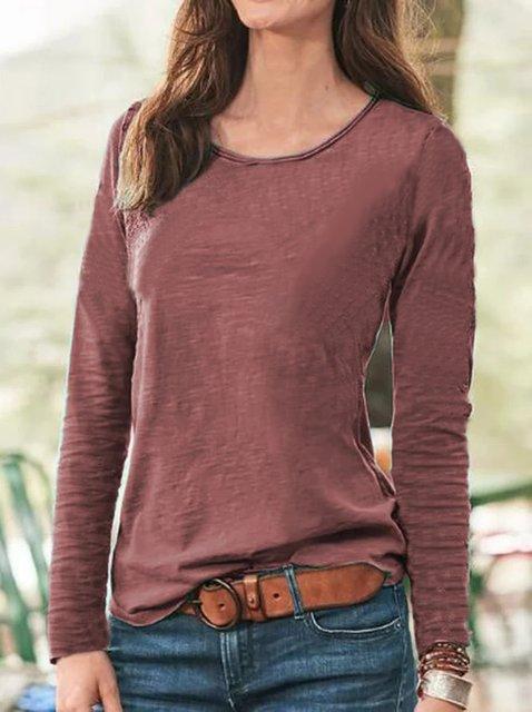 Women's Cotton-Blend Long Sleeve Casual Shirts