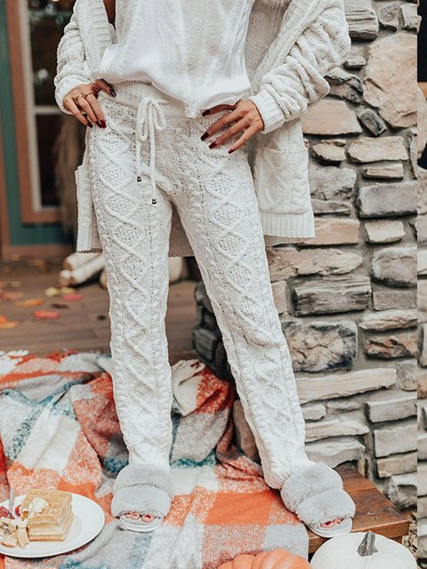 Winter woolen pure color cheap and comfortable woolen trousers