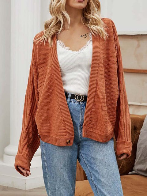 Cashmere Knitted Solid Casual Sweater