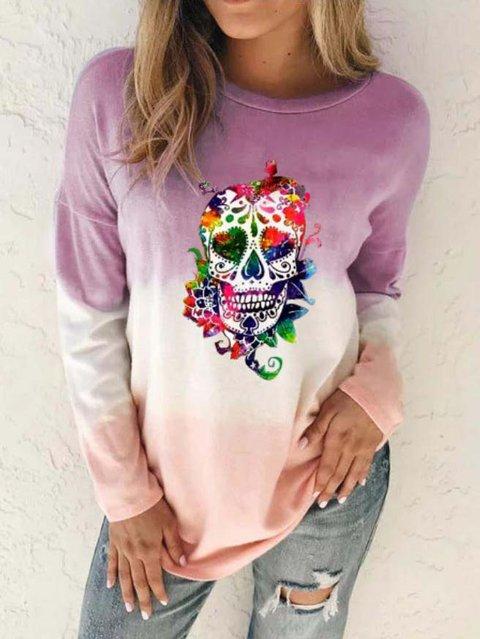 Crew Neck Printed Long Sleeve Shirts & Tops