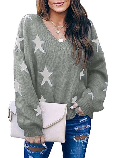 Casual Embroidered Long Sleeve Sweater