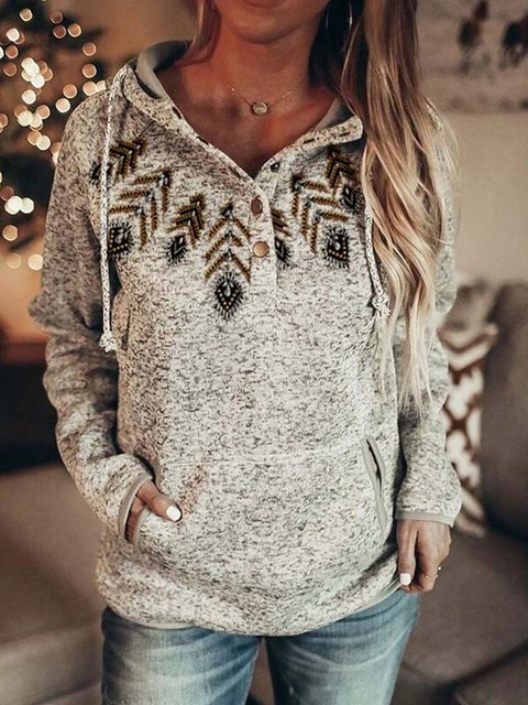 Cartoon Printed Long Sleeve Casual Shirts & Tops