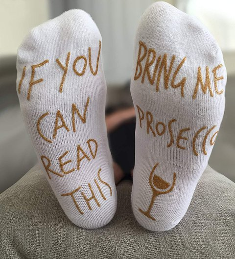 2020 IF YOU CAN READ THIS BRING ME PROSECCO socks