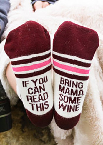2020 If you can this bring me wine Socks