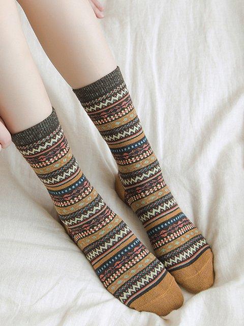 National style socks