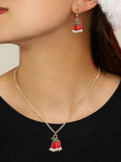 Women's Christmas Earrings Necklace Set