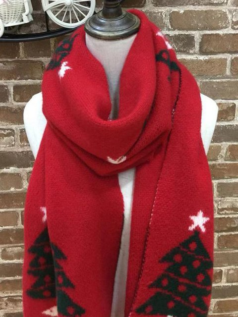 Christmas scarf and warm shawl