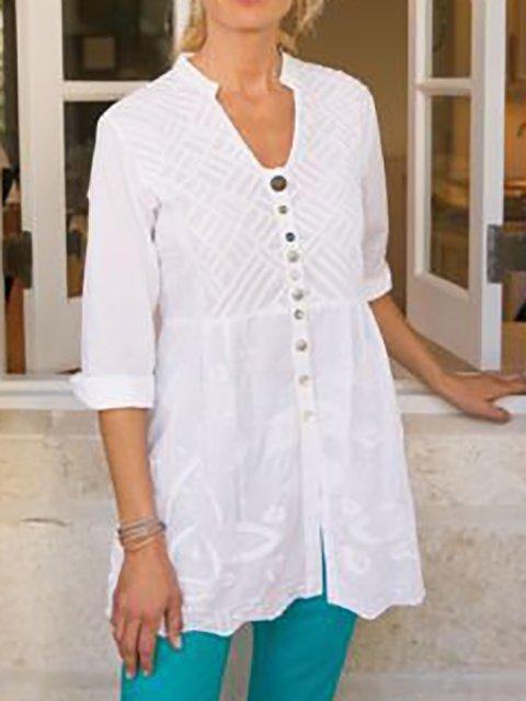 Women's Embroidered Shift Basic Shirts