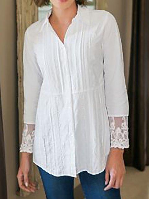 Women's Shift Shirt Collar Solid Long Sleeve Shirts