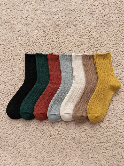 Thick winter mid-length tube socks