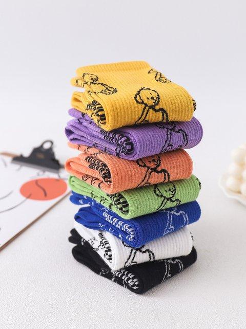 Broken Bear Thread Socks