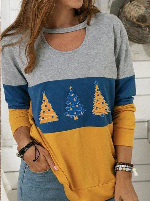 Casual Christmas Snowman Long Sleeve Sweatshirt