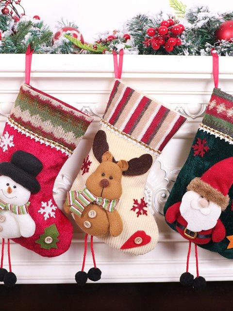 Santa socks with christmas pendants