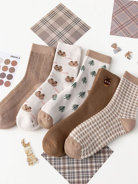 Winter coffee new thick and velvet socks