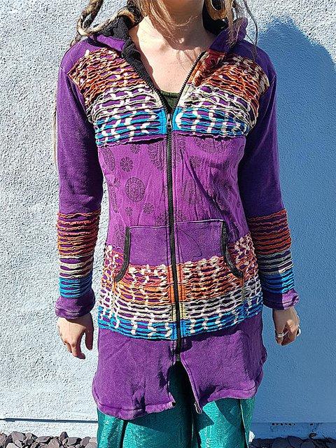 Casual Long Sleeve Hoodie Outerwear