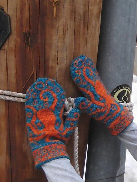 Print Casual Octopus Gloves & Mittens