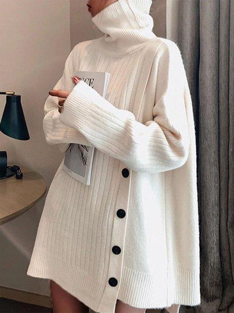 Shift Plain Casual Turtleneck Sweater