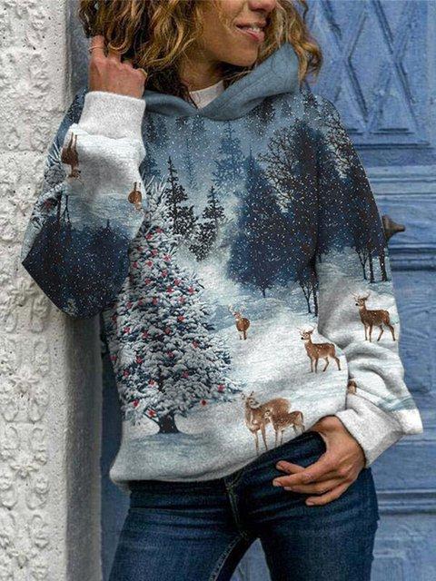 Plants Printed Shift Casual Sweatshirt