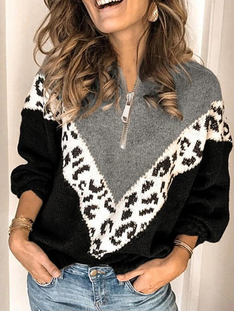 Shift Long Sleeve Casual Knitted Sweater
