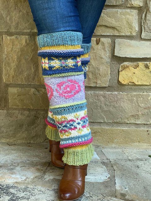 Colorful Knee Leg Warmers Pads