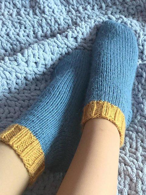 Knit Pattern Cute Cozy Socks