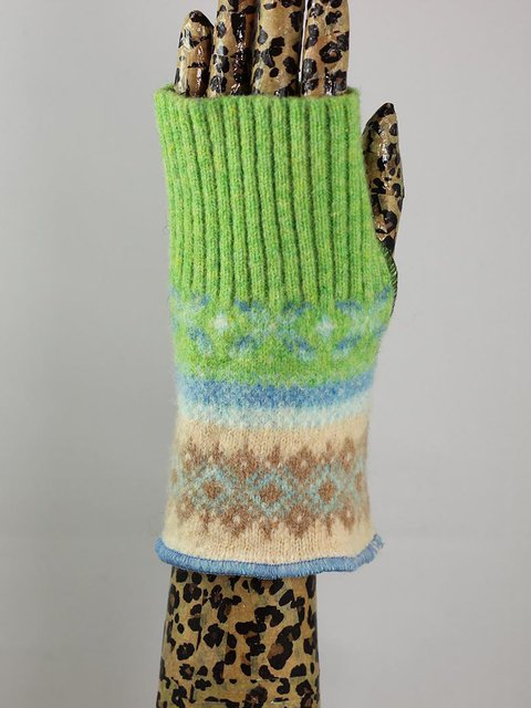 Green Blue Casual Gloves & Mittens