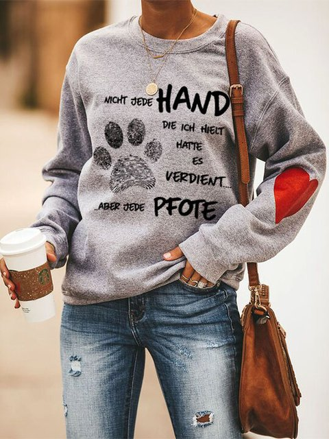 NOT EVERY HAND I DESERVED BUT EVERY PAW Alphabet animal printed sweater