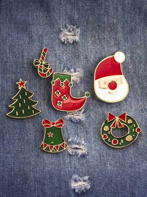 Christmas Gifts Santa Wreath Christmas Tree Socks Brooches