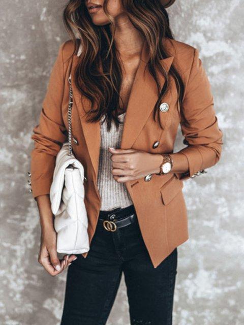 Modern Pure Colour Long Sleeve Jacket