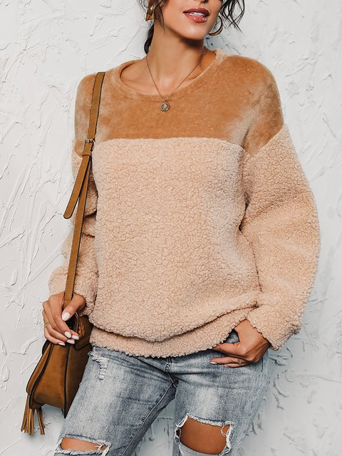 Double Sided Plush Warm Cashmere Pullover Sweater Coat