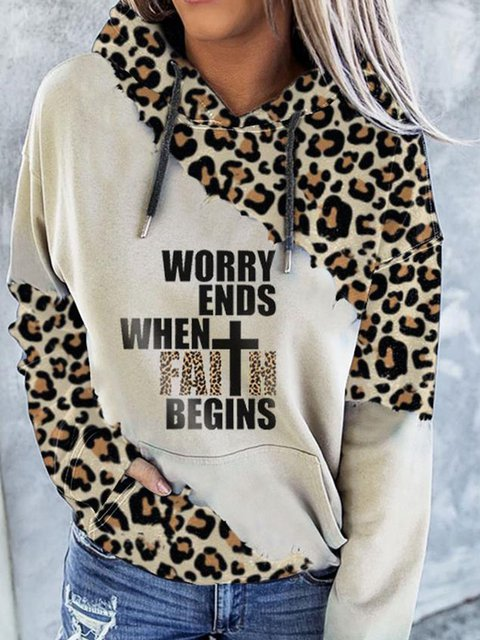 Casual Leopard Long Sleeve Sweatshirt