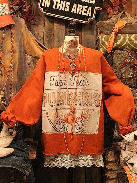 Punk Letter Long Sleeve Sweatshirt