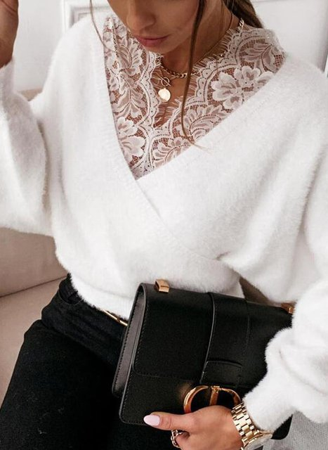 Casual Cotton V Neck Sweater