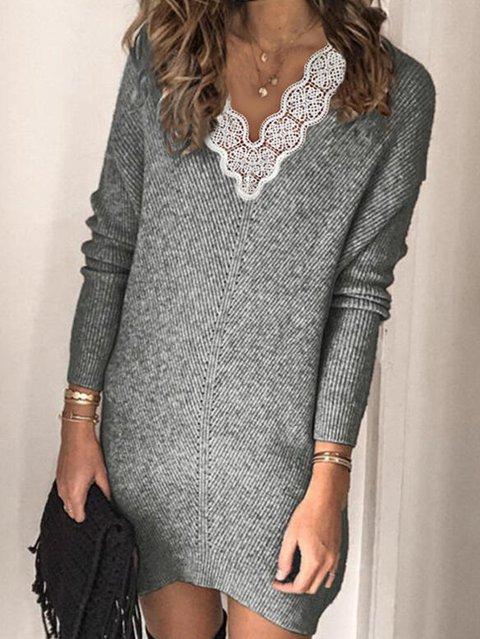 V Neck Women Dresses Cotton Plain Dresses