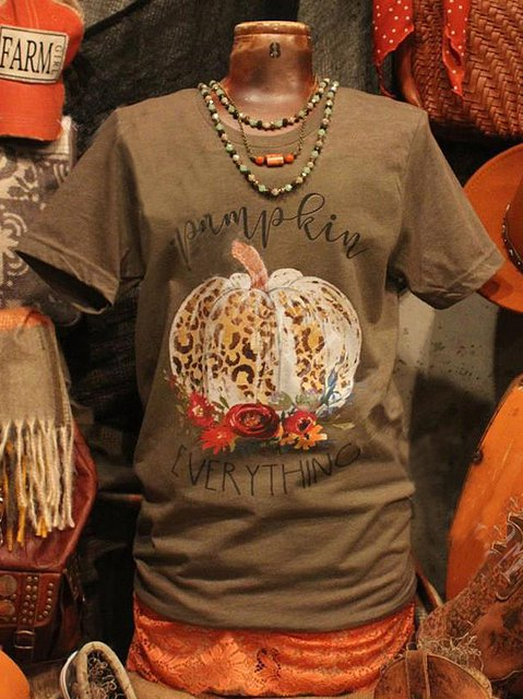 Tribal Shift Casual Crew Neck Shirts & Tops