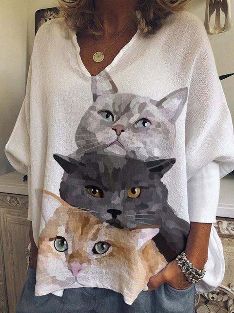 Animal Long Sleeve Cotton-Blend Shirts & Tops
