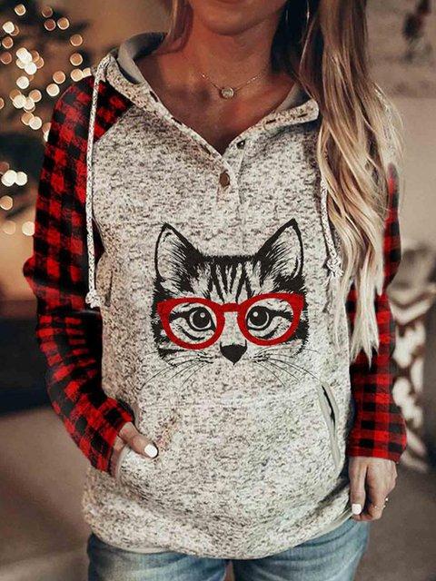 Christmas Cat Sweater animal printed sweater