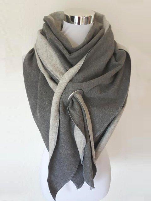 Plush warm vintage elegant cotton scarf and shawl