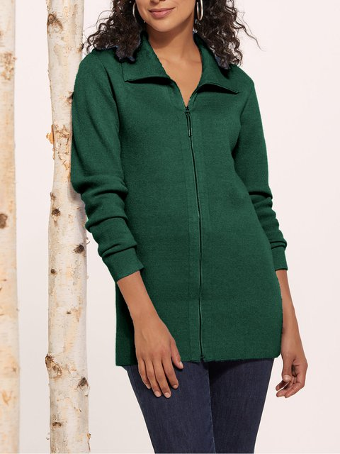 Casual Long Sleeve Cashmere Shawl Neck Outerwear