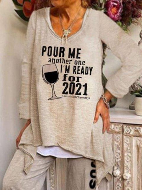 Retro women's comfortable loose plus casual printed T-shirt