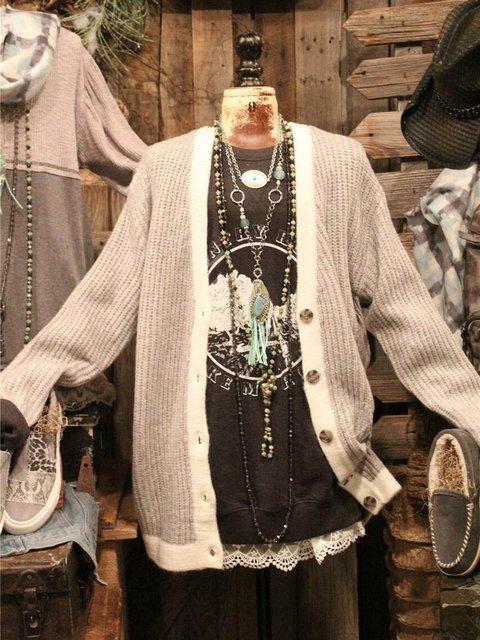 Long Sleeve Acrylic Sweater
