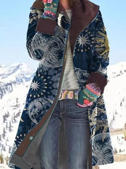 Long Sleeve Lapel Buttons Coats