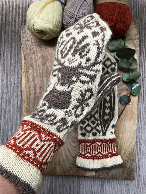 Christmas elk gloves