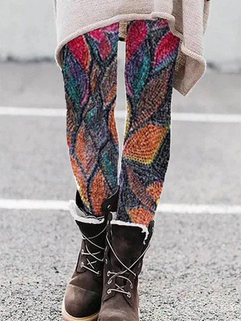 Abstract Leaves Pants