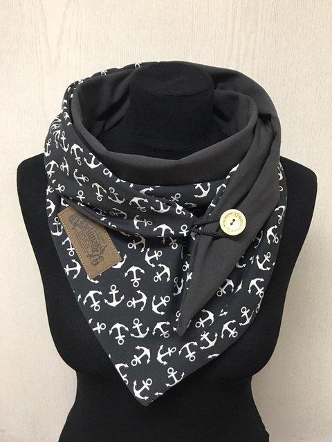 Wrap Scarf Grey Anchor Scarves & Shawls