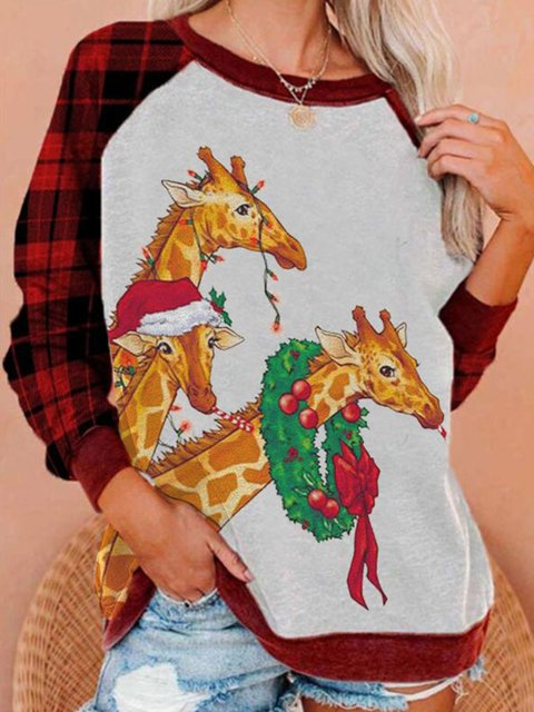 Shift Animal Long Sleeve Casual Sweatshirt