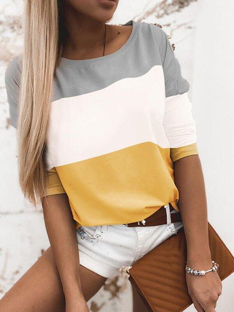 Long Sleeve Plain Shirts & Tops