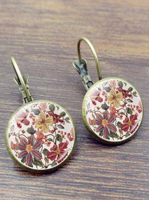 Ladies Mandala Flower Time Gem Earrings