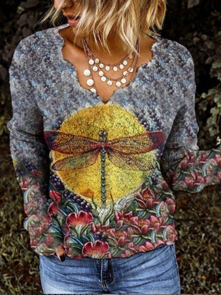 Floral Vintage Long Sleeve Sweatshirt